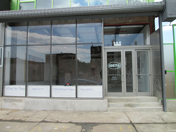 Storefront of Gallery- Falling into Place