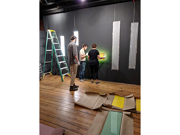 Installation of ILLUMINATED exhibit
