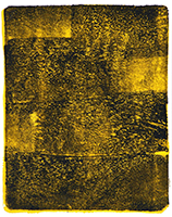 Anne Russinof, Arcs 43, 2016, Monotype, Acrylic, Archival Paper, Minimalist Yellows and black