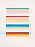 Audrey Stone-Acrylic Paint, Archival Paper, Pigment, striped abstract